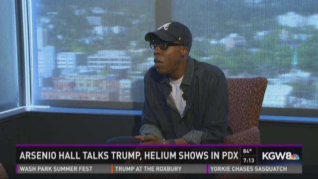 Arsenio Hall talks Trump, Helium shows in Portland