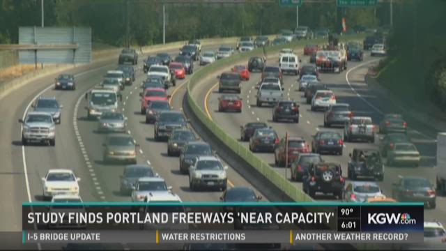 Portland traffic nearing capacity with more drivers on the road
