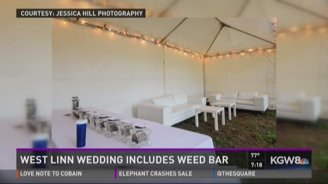 Event Weed bar: West Linn wedding includes weed bar
