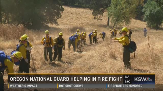 Oregon National Guard helping wildfire fight