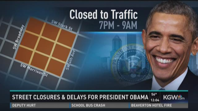 Street closures, delays during President Obama's visit