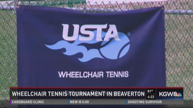 Wheelchair tennis tournament in Beaverton