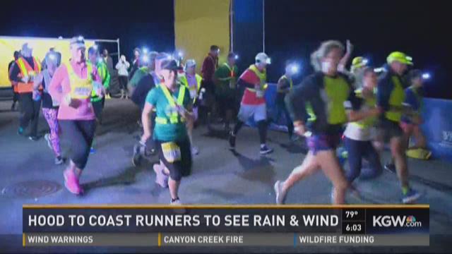 Hood to Coast runners to see rain, wind