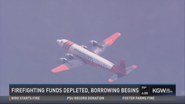 Firefighting funds depleted, borrowing begins