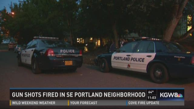 Gun shots fired in SE Portland neighborhood