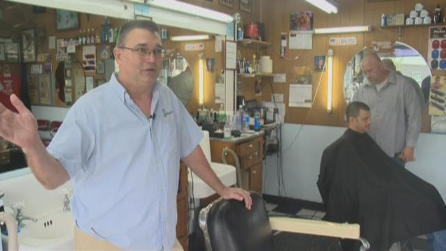 Roseway Barber Shop in Portland.