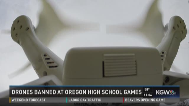Drones banned at Oregon high school games