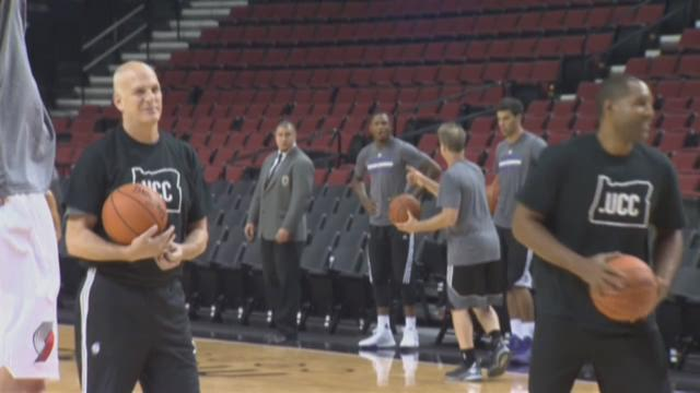 Blazers play Kings in first preseason game