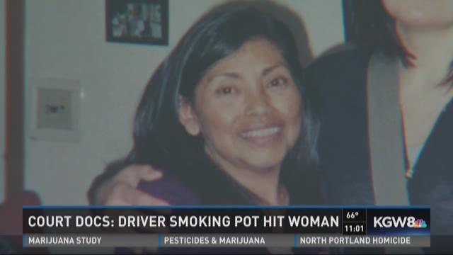 Driver smoking pot hit woman