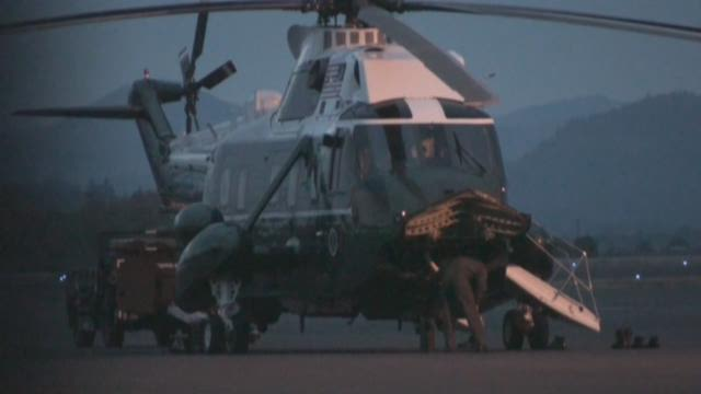 Marine One at the Eugene airport