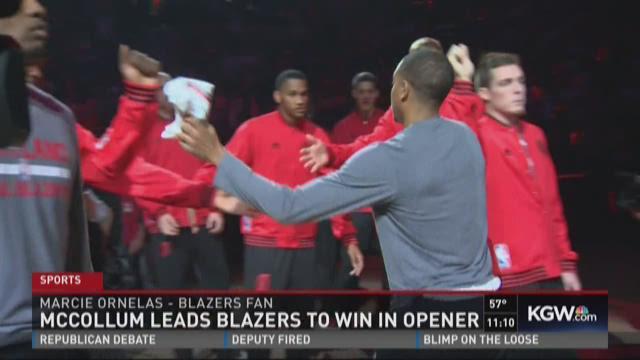 Photos: Blazers on fire in season-opening win