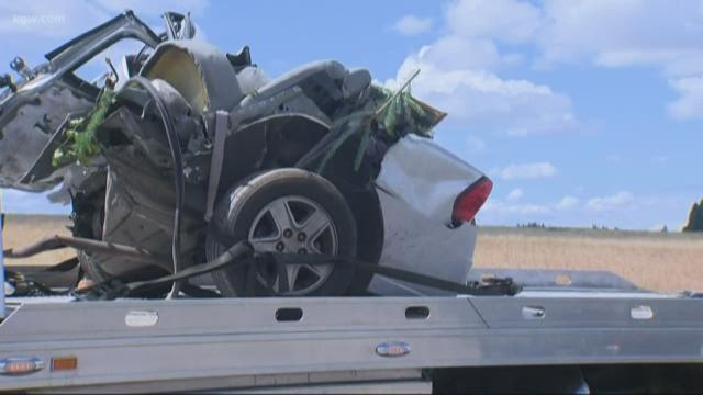 1 vehicle crash south of Canby kills 3, driver survives